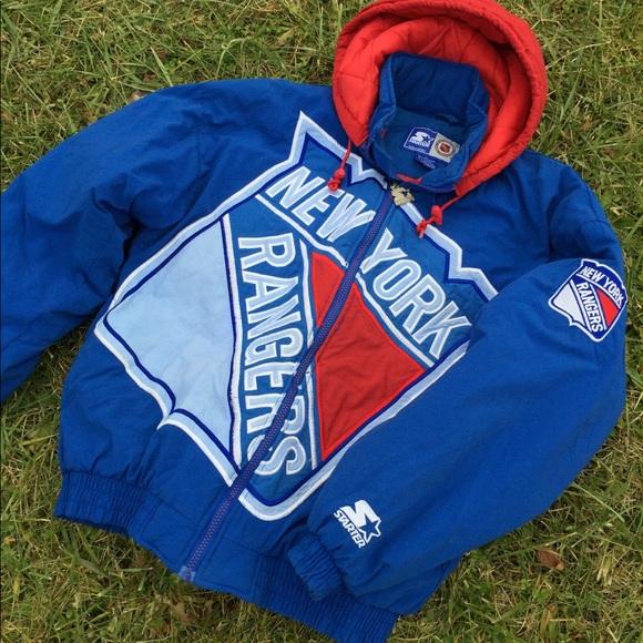 Vintage Starter Coat New York Rangers 🔥🔥🔥. M 5a39acb0077b97b9c402264c 01828a7ad2